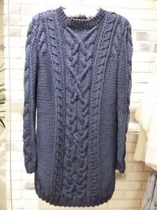 хлопковый свитер-платье