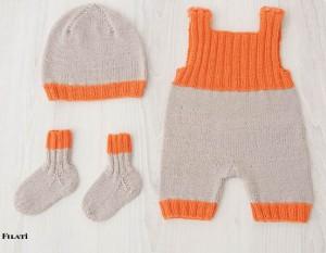 арт 242 (Размер: 56/62, 68/74   Шапка 33 и 36 см    Пряжа: 220м/50г    Количество:   Пуловер на девочку – 250 (250) 300 г  Пуловер на мальчика – 250 (300) 350 г )